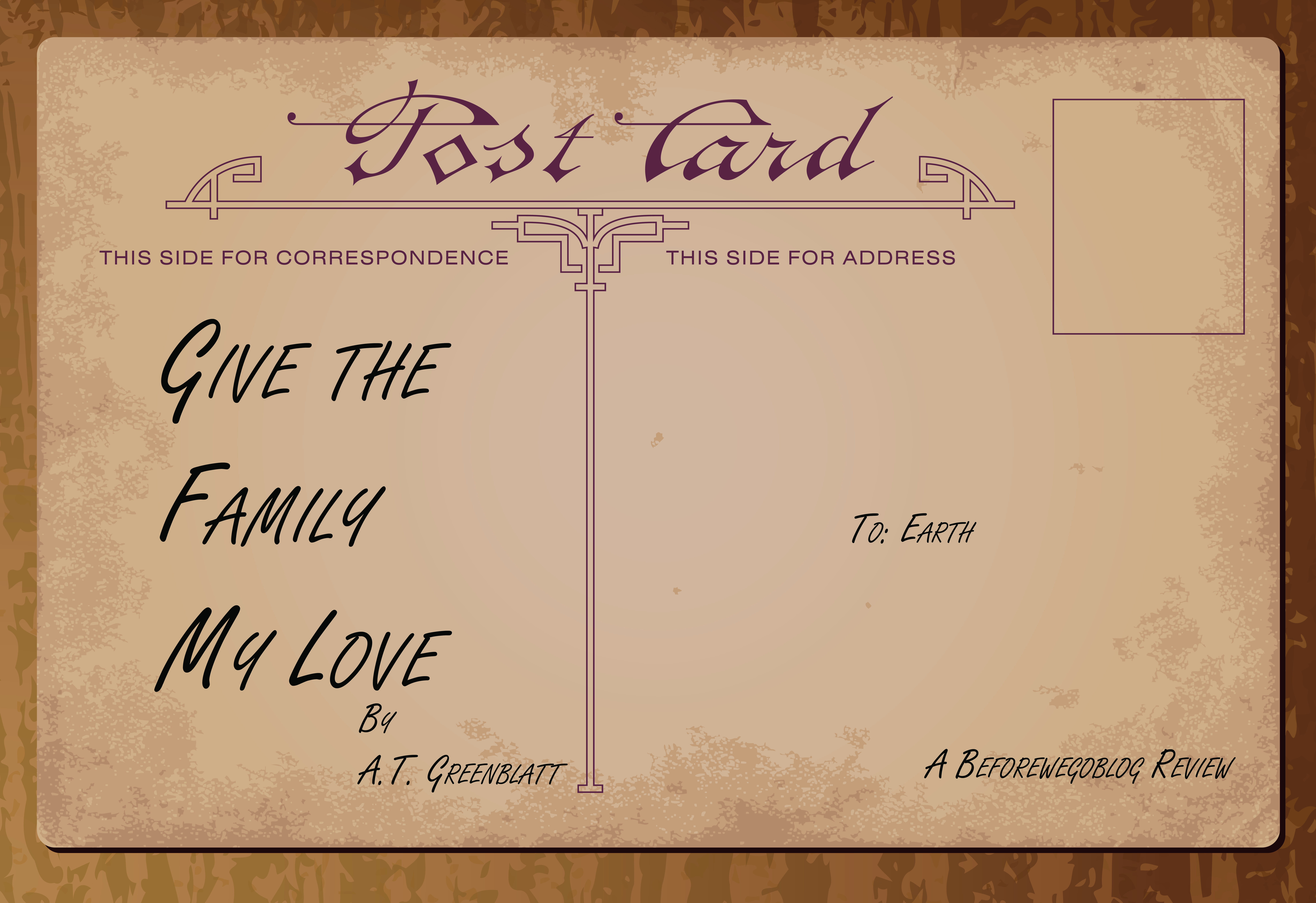 Review of Give the Family My Love by A.T. Greenblatt