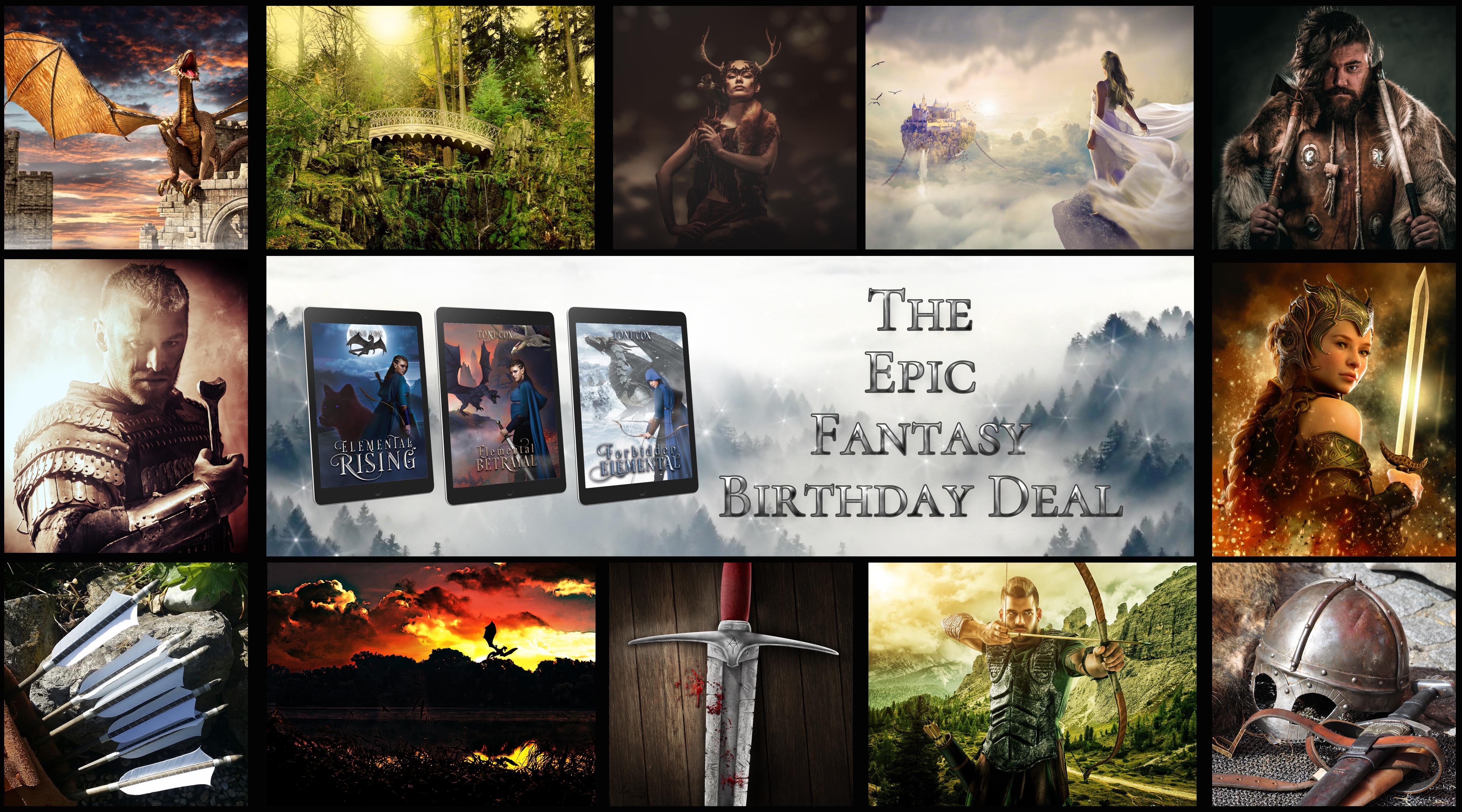 Feature – Toni Cox's Elemental Trilogy Birthday Special