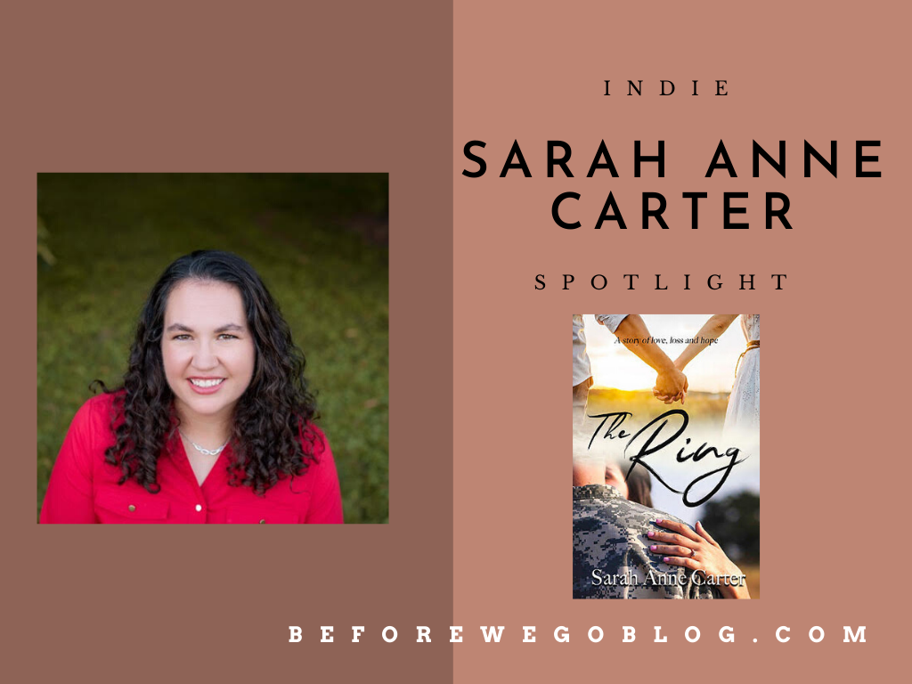 #indiespotlight of Sarah Anne Carter, Author of The Ring