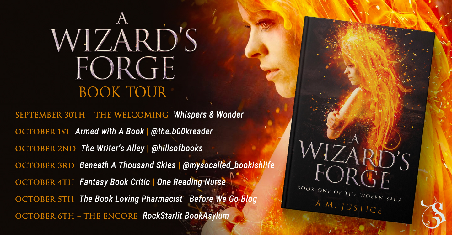 Tour –  Interview With A.M. Justice, Author of A Wizard's Forge